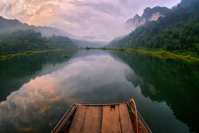 Ba Be Lake is a famous tourist attraction in the North of Vietnam.