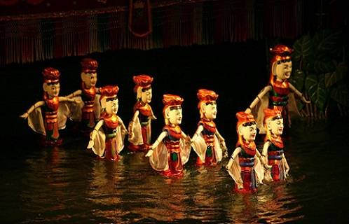 Hanoi's residents are at least once in one's lifetime watching Water Puppet