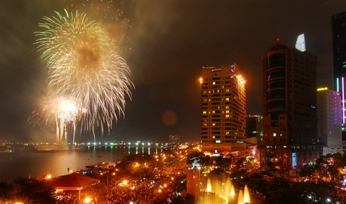 Firework display in Ho Chi Minh City