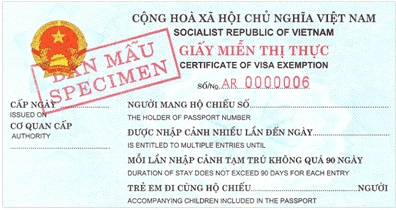 a certificate of visa exemption